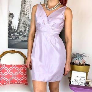 J. Crew Lavender Silk Cocktail Dress